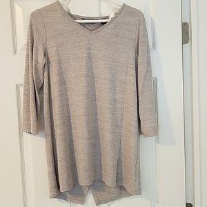 Gray Lands' End open back shirt, size XS